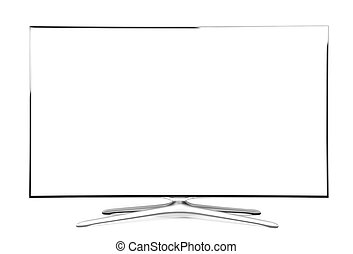 monitor isolated on white