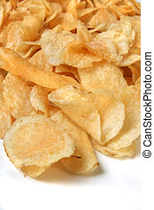 Bag of chips - Closeup of kettle chips spilling over on a...
