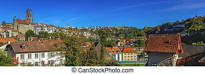 Cathedral of St Nicholas in Fribourg, Switzerland -...