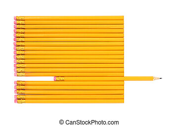 Lead Pencil Abstract - Lead pencils with one pencil...
