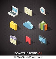 Flat Isometric Icons Set 1