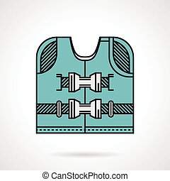Flat design icon for life jacket - Flat color vector icon...