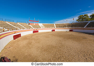 Alcudia Mallorca bullring in Balearic islands of Majorca...