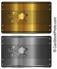 Gold and silver business card templates.