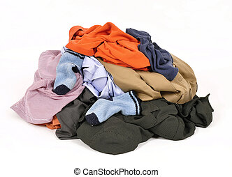 Dirty clothes - Pile of dirty clothes