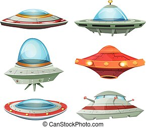 Flying Saucer, Spaceship And UFO Se