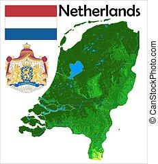 Netherlands map flag coat