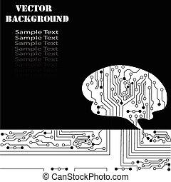 Technological brains vector background. Vector eps10.