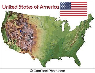 United States map flag coat