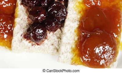 Crispbread with jam