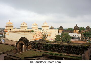 White Hindu temple Orchha, India - White Hindu temple Ram...