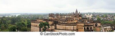 Jahangir, MAHAL, MAHARAJA, palais, Orchha, Inde,