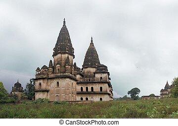 Chhatris - Cenotaph Domes, Orchha, India - Chhatris or...