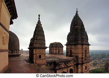 Old Chaturbhuj Hindu Temple, Orchha, India - Old Chaturbhuj...