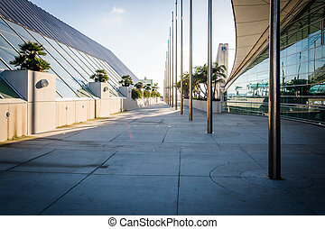 Walkway at the Convention Center in San Diego, California.