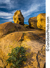 Large boulders at Mount Rubidoux Park, in Riverside,...