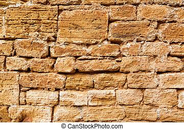 Alcudia Old Town masonry wall texture Mallorca