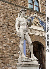 David statue by Michelangelo Buonarroti in Florence, Italy