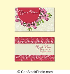 card with floral pattern