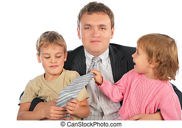 businessman with children