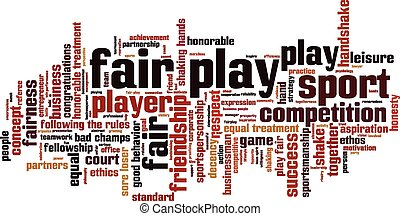 Fair play word cloud concept. Vector illustration