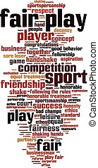Fair play word cloud concept Vector illustration