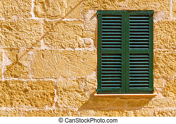 Alcudia Old Town wood shutters Mallorca - Alcudia Old Town...