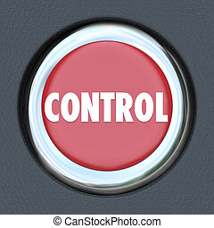 Control Red Car Start Button Leader Manager Supervisor Oversight