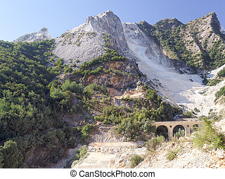 Panoramic views of Alpi Apuane Tuscany Italy - Landscape of...