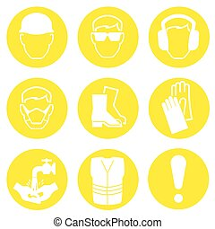 Construction Industry Icons - Yellow Construction Industry...