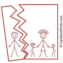 Marriage break up - Representation of family marriage break...