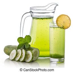 Cucumber juice - A potrait of a glass cucumber juice
