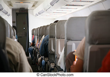 Chairs in airplane