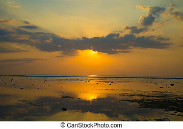 Sunset on Trawangan - Sunset on the island of Gili...