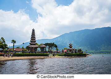 Pura Ulun - Temple Pura Ulun Danu on a lake Beratan Bali