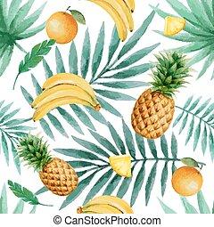 Seamless pattern - Exotic fruits seamless pattern,...