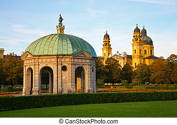 Stone pavilion. Munich. Germany