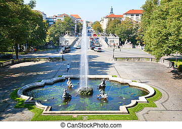 Fountain in park , Munich