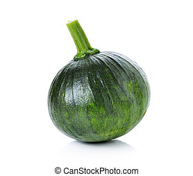 Green pumpkin isolated on white back