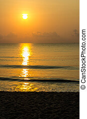 sunrise at bangrood beach Prachuap Khiri Khan Thailand