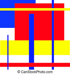 Mondrian type abstract art - Mondrian type art work deals...