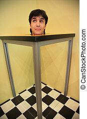 head on optical table