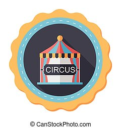 circus flat icon with long shadow,eps10