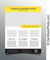 Business flyer template - yellow - Multipurpose business...