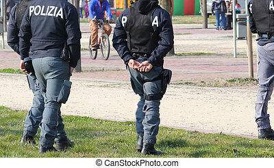 Italian police patrolling the Park in search of drug dealers...