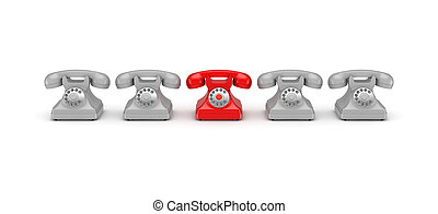 3d rendered retro telephone - 3d rendered retro telephones...