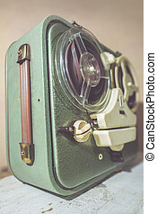 Old vintage tape recorder - Old vintage green tape recorder...