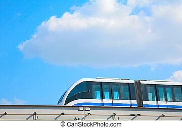 monorail on sky background