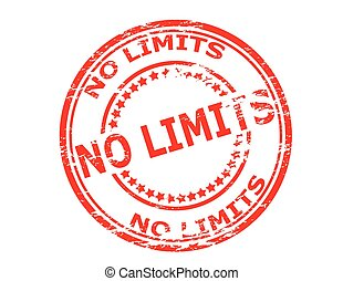 No limits - Stamp with text no limits inside, vector...