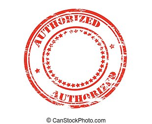 Authorized - Stamp with word authorized inside, vector...